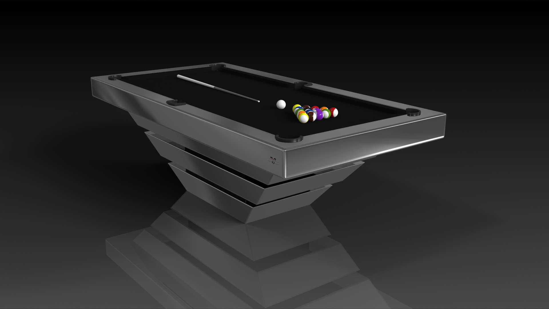 Louve Elevate Customs - Chrome pool table